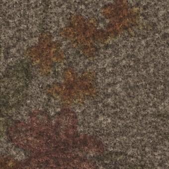 ウール&ポリエステル混×フラワー(セピア)×ツイード&ジョーゼット