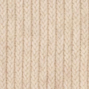 ウール&ナイロン混×無地(キナリ)×バルキーニット_全4色