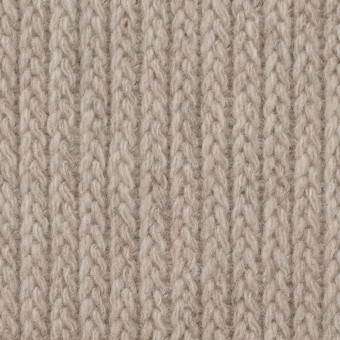 ウール&ナイロン混×無地(グレイッシュベージュ)×バルキーニット_全4色