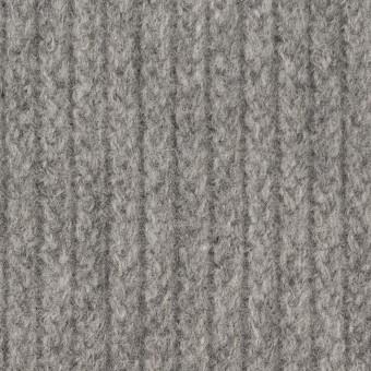 ウール&ナイロン混×無地(グレー)×バルキーニット_全4色