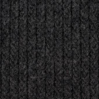 ウール&ナイロン混×無地(チャコールグレー)×バルキーニット_全4色
