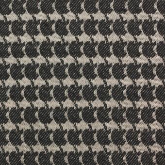 コットン×幾何学模様(キナリ&ダークブラウン)×ジャガード