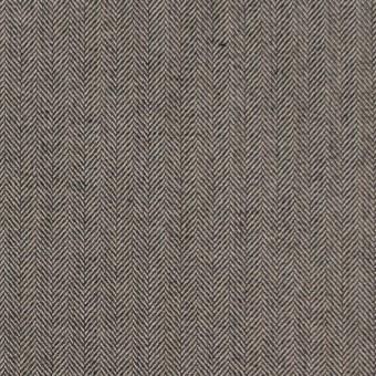コットン&ポリウレタン×無地(キナリ&チャコール)×ヘリンボーンストレッチ