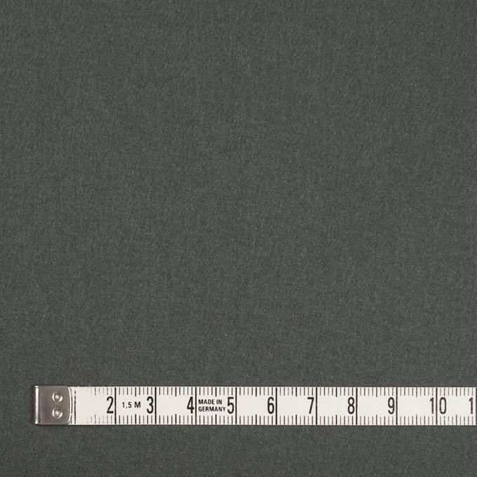ウール×無地(スレートグリーン)×フラノ(フランネル) イメージ4