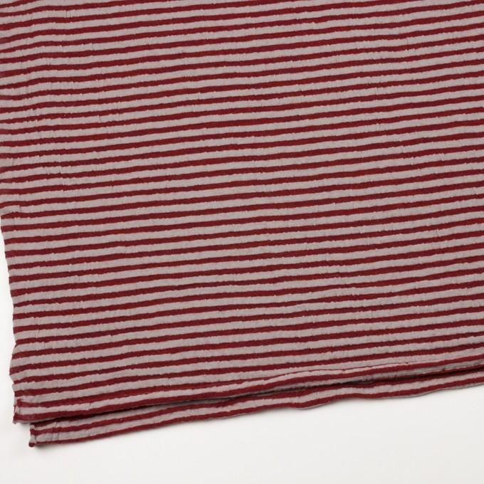 ウール&コットン×ボーダー(レッド&グレイッシュベージュ)×天竺ニット_全5色 イメージ2