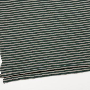 ウール&コットン×ボーダー(モスグリーン&サンドベージュ)×天竺ニット_全5色 サムネイル2