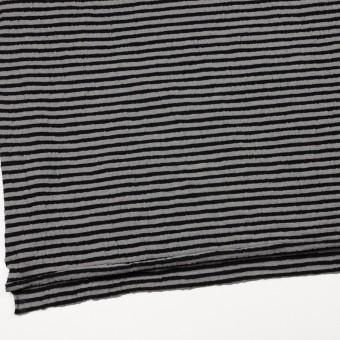 ウール&コットン×ボーダー(ブラック&グレー)×天竺ニット_全5色 サムネイル2