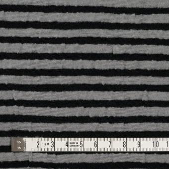 ウール&コットン×ボーダー(ブラック&グレー)×天竺ニット_全5色 サムネイル4