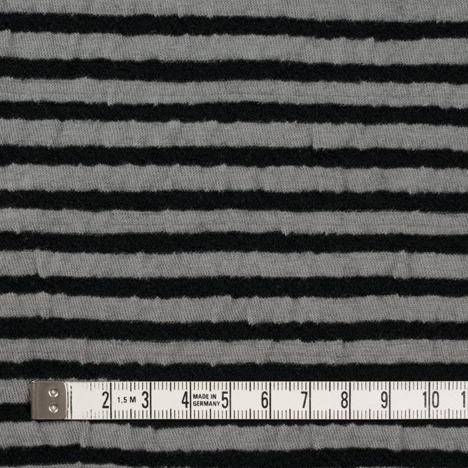 ウール&コットン×ボーダー(ブラック&グレー)×天竺ニット_全5色 イメージ4