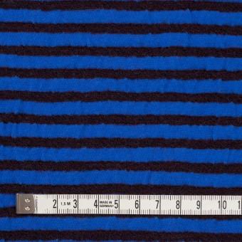 ウール&コットン×ボーダー(ダークブラウン&マリンブルー)×天竺ニット_全5色 サムネイル4