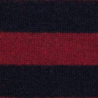 ウール×ボーダー(アップル&ダークネイビー)×天竺ニット サムネイル1