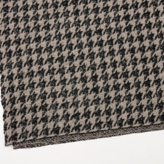 ウール&アクリル混×千鳥格子(グレイッシュベージュ&ブラック)×ループニット サムネイル2
