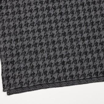 ウール&アクリル混×千鳥格子(グレー&ブラック)×ループニット サムネイル2