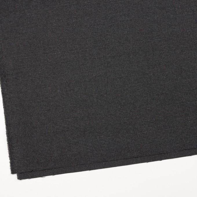 ポリエステル&レーヨン混×チェック(グレー)×サージストレッチ イメージ2