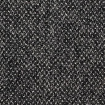 ウール&ナイロン×ミックス(アイボリー&ブラック)×ツイード