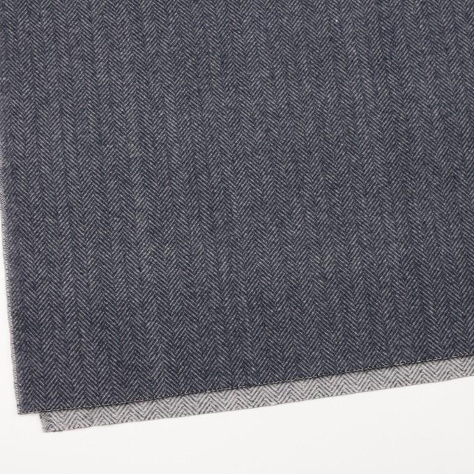 ウール&ナイロン×ミックス(ブルーグレー)×ヘリンボーン_全2色 イメージ2
