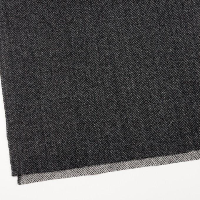 ウール&ナイロン×ミックス(チャコールグレー)×ヘリンボーン_全2色 イメージ2
