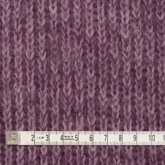 モヘア&ウール混×無地(モーブ)×バルキーニット_全3色_イタリア製 サムネイル4
