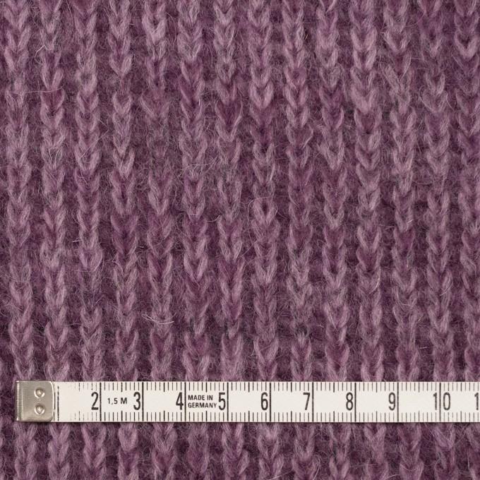 モヘア&ウール混×無地(モーブ)×バルキーニット_全3色_イタリア製 イメージ4