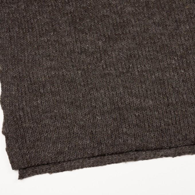モヘア&ウール混×無地(ダークブラウン)×バルキーニット_全3色_イタリア製 イメージ2