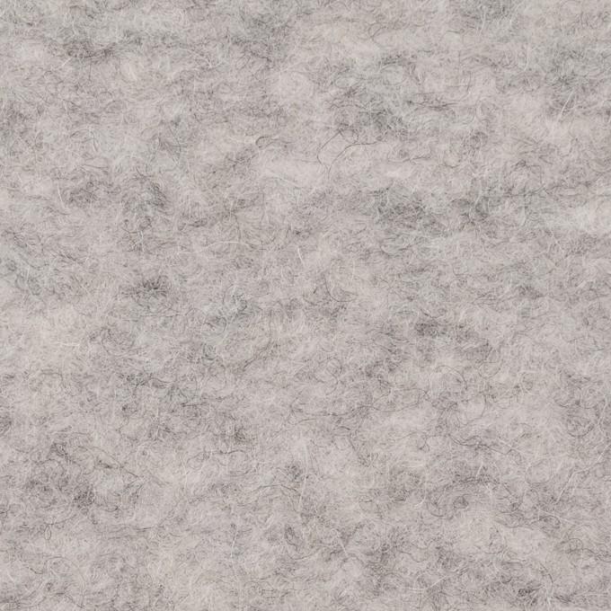 ウール&アクリル混×無地(ライトグレー)×ループニット イメージ1