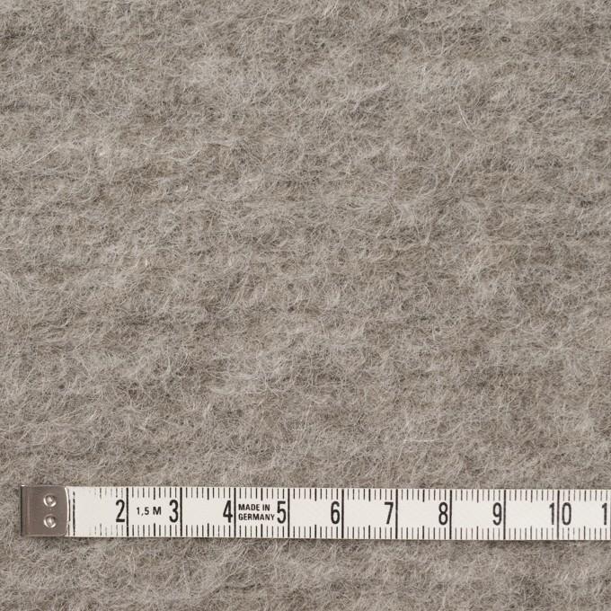 モヘア&ウール混×無地(グレイッシュベージュ)×ループニット_イタリア製 イメージ4