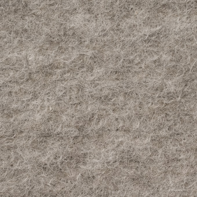 モヘア&ウール混×無地(グレイッシュベージュ)×ループニット_イタリア製 イメージ1