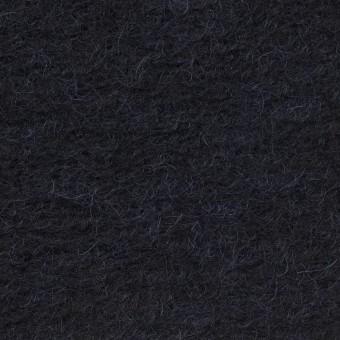 モヘア&ウール混×無地(ダークネイビー)×ループニット_イタリア製 サムネイル1