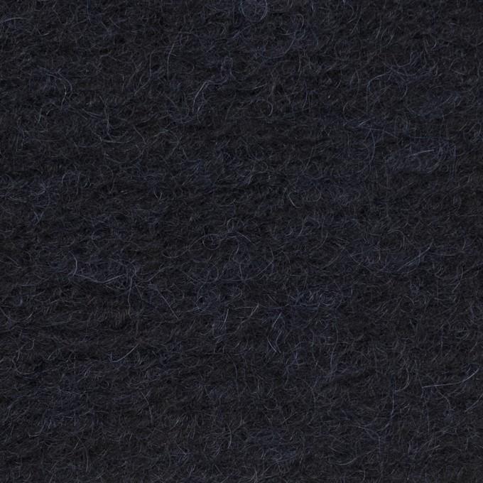 モヘア&ウール混×無地(ダークネイビー)×ループニット_イタリア製 イメージ1