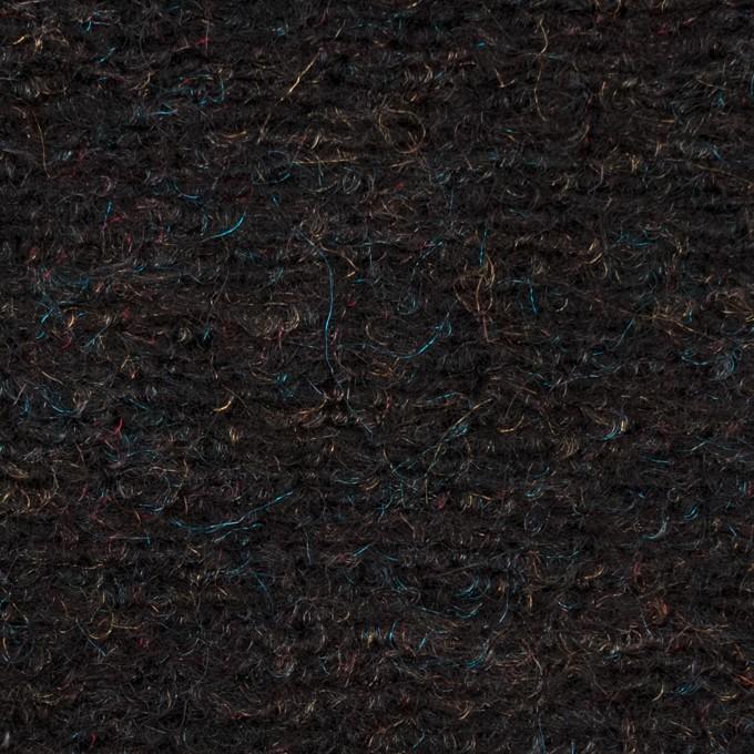 モヘア&ウール混×ミックス(チャコール)×ループニット_イタリア製 イメージ1