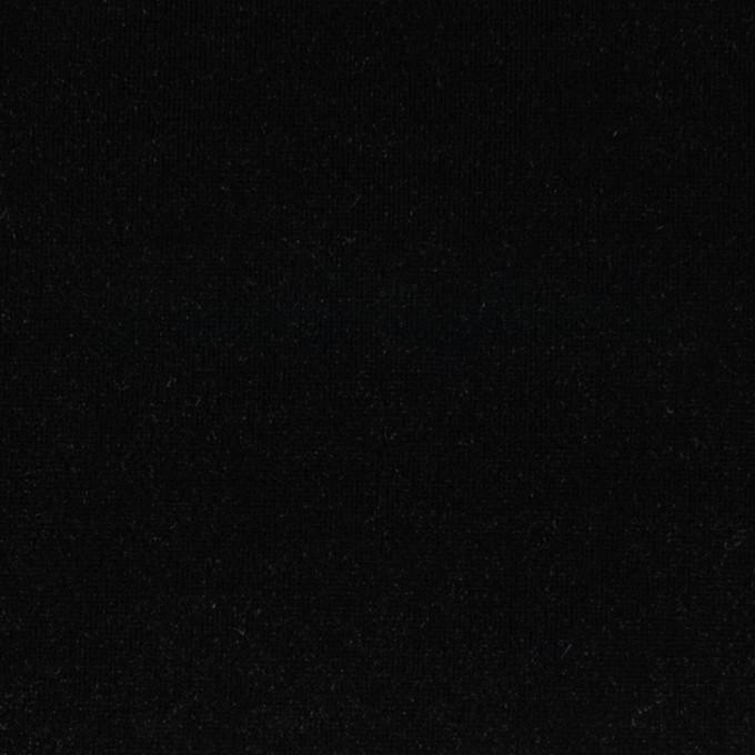 ポリエステル&ポリウレタン×無地(ブラック)×ニットベロア イメージ1