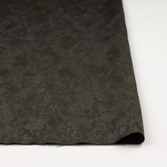 レーヨン&ウール混×幾何学模様(カーキグリーン&チャコール)×ジャガード サムネイル3