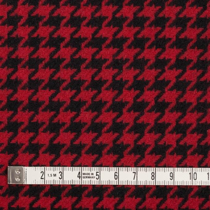 ウール&ナイロン×チェック(レッド&ブラック)×千鳥格子 イメージ4
