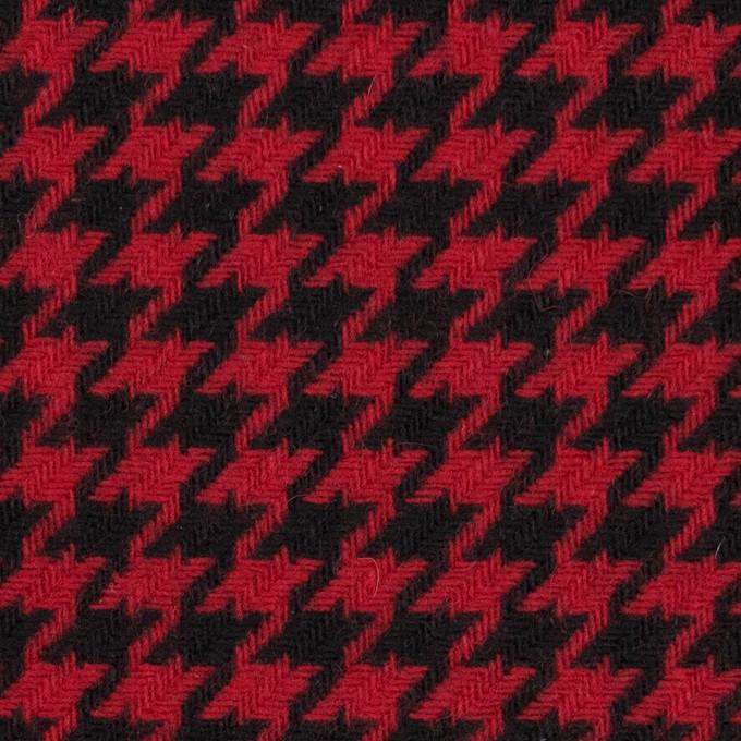 ウール&ナイロン×チェック(レッド&ブラック)×千鳥格子 イメージ1