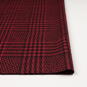 ウール&シルク×チェック(レッド&ブラック)×ジャガード サムネイル3