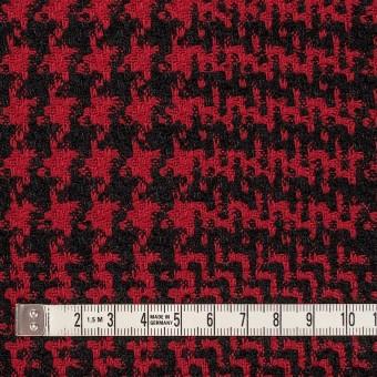 ウール&シルク×チェック(レッド&ブラック)×ジャガード サムネイル4