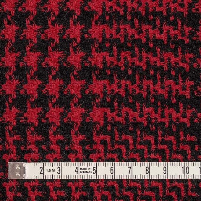ウール&シルク×チェック(レッド&ブラック)×ジャガード イメージ4