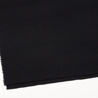 ウール×無地(ブラック)×かわり織_全3色 サムネイル2