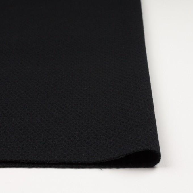 ウール×無地(ブラック)×かわり織_全3色 イメージ3