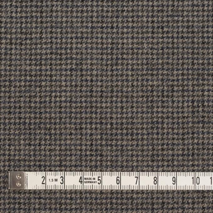 ウール×チェック(チャコール)×千鳥格子 イメージ4