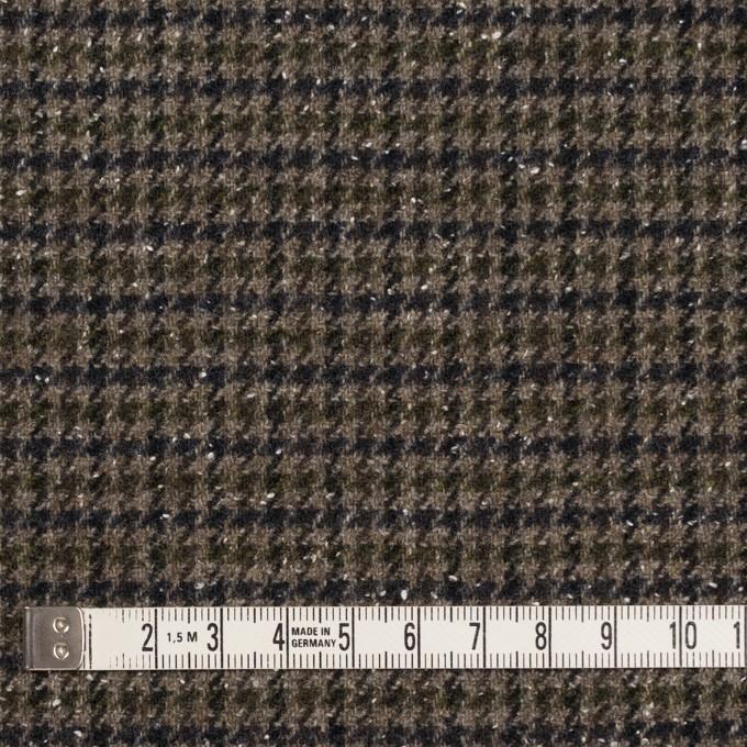 ウール&ナイロン混×チェック(カーキ&ネイビー)×千鳥格子ストレッチ_全2色 イメージ4