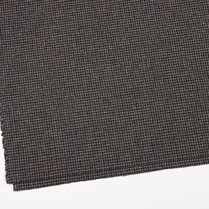 ウール&ナイロン混×チェック(ブラウン&ネイビー)×千鳥格子ストレッチ_全2色 イメージ2