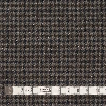 ウール&ナイロン混×チェック(ブラウン&ネイビー)×千鳥格子ストレッチ_全2色 サムネイル4