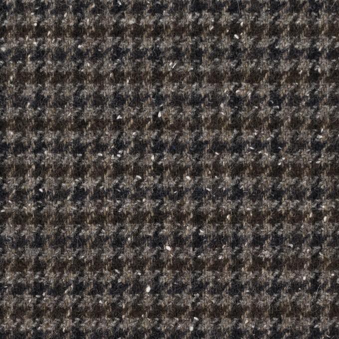 ウール&ナイロン混×チェック(ブラウン&ネイビー)×千鳥格子ストレッチ_全2色 イメージ1