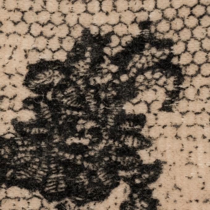 アクリル&ナイロン混×レース(ベージュ&ブラック)×メッシュニット_フロッキー_全2色 イメージ1