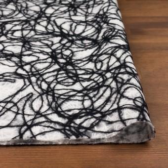 アクリル&ウール混×ライン(オフホワイト&ブラック)×不織布 サムネイル3