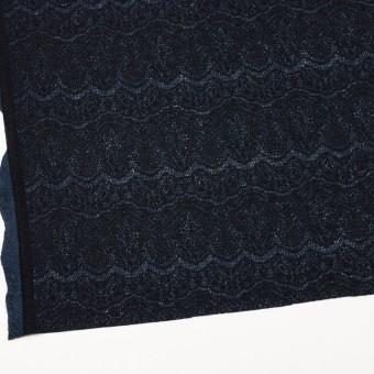 アクリル&ウール混×スカラップ(ネイビーブルー&ブラック)×メッシュニット&ラッセルレース サムネイル2