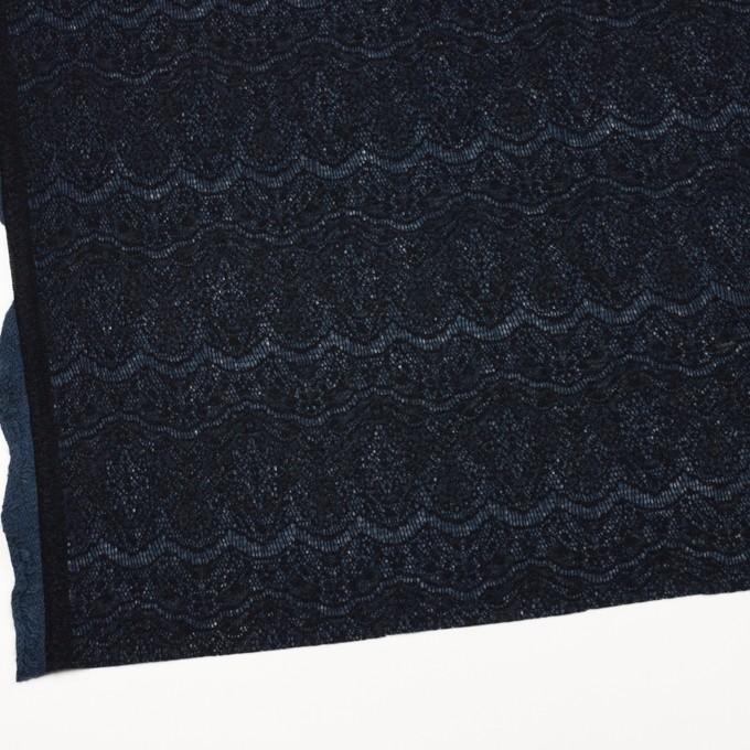 アクリル&ウール混×スカラップ(ネイビーブルー&ブラック)×メッシュニット&ラッセルレース イメージ2