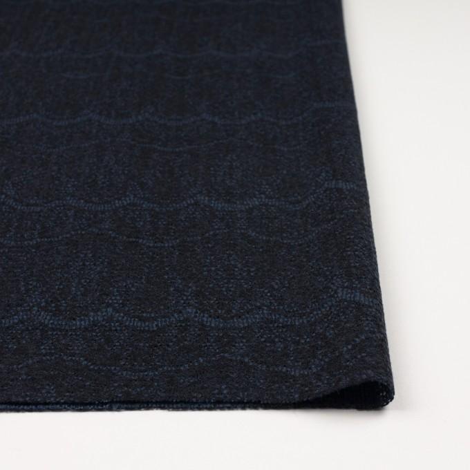 アクリル&ウール混×スカラップ(ネイビーブルー&ブラック)×メッシュニット&ラッセルレース イメージ3