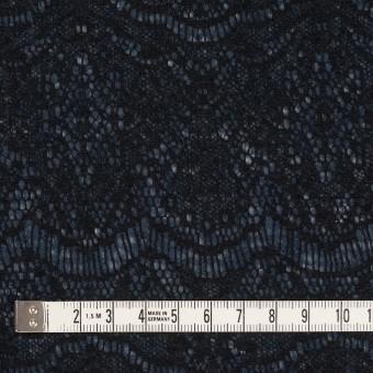 アクリル&ウール混×スカラップ(ネイビーブルー&ブラック)×メッシュニット&ラッセルレース サムネイル4